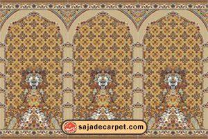 سجاده محرابدار کاشان - سجاده فرش طرح پانیذ با رنگ گردویی