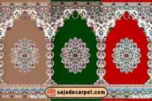 فرش سجاده ای کاشان - فرش برای مسجد طرح گلستان