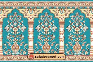 سجاه فرش محراب نقش کاشان طرح گلزارسجاده فرش طرح بوستان