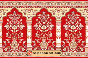 سجاده فرش, فرش سجاده, فرش سجاده ای, فرش محرابی, فرش محرابی مسجد, فرش مسجد, فرش نماز, فرش نماز کاشان فرش سجاده محراب نقش کاشان