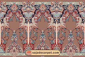 فرش سجاده ای محرابی – سجاده فرش طرح مجلل - محراب نقش کاشان