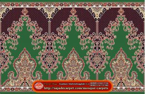 Iranian Prayer Rug For Masjid - Mosque Carpets - Negar Design - green carpet