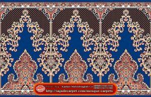 Iranian Prayer Rug For Masjid - Mosque Carpets - Negar Design - blue carpet