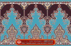 Iranian Prayer Rug For Masjid - Mosque Carpets - Negar Design - light blue carpet