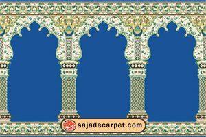prayer carpets for sale – mosque carpet – Hekmat Design - blue carpet