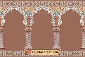 prayer carpets for sale – mosque carpet – Hekmat Design - Walnut carpet