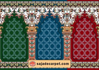 Prayer Carpet Roll For Mosque -  Sana Design