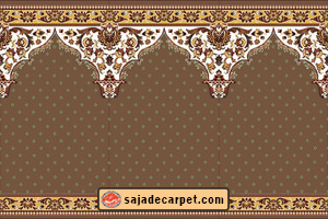 walnut mosque carpet - baghebehesht design