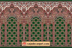 green prayer carpet pattern