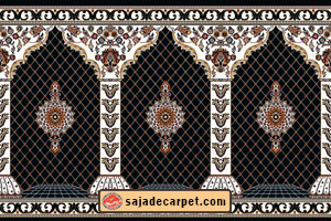 dark blue Carpet for prayer room – Golzar Design