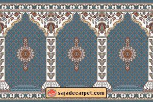 turquoise Carpet for prayer room – Golzar Design