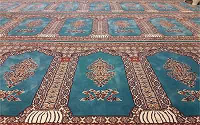 فرش سجاده ای آبی