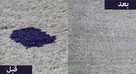 بقع, بقع السجاد, تنظيف بقع السجاد فرش سجاده محراب نقش کاشان