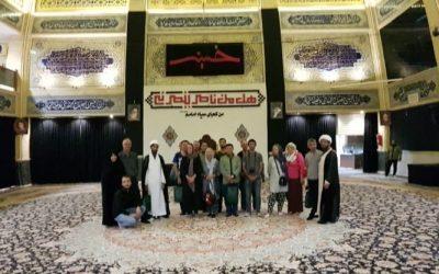 فرش یکپارچه هیئت حسینی نخل سدره و سرفره کاشان