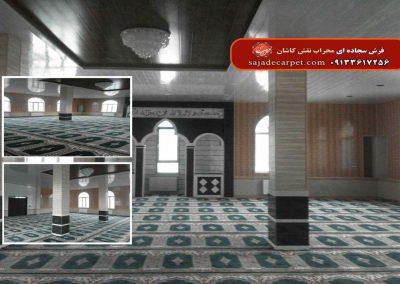 فرش سجاده ای سبز مسجد محمد رسول الله بوکان