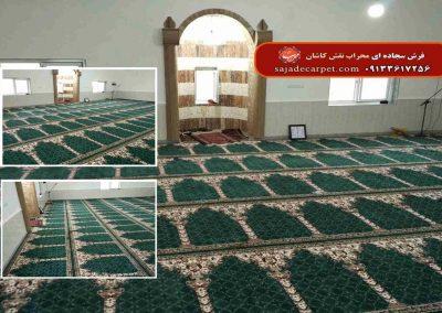 فرش سجاده ای سبز مسجد حاج صالح گلستان