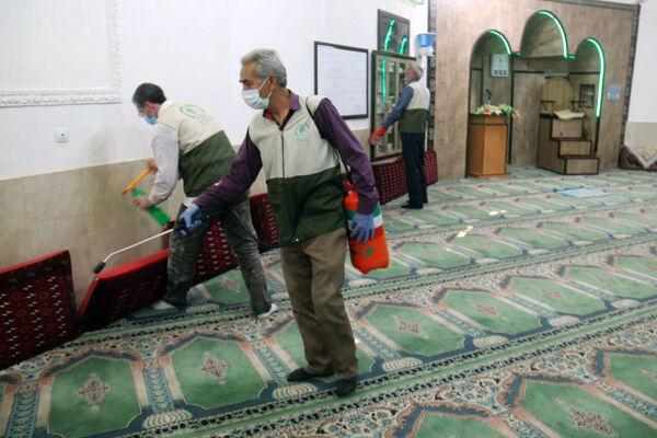 ویروس کرونا و فرش مسجد فرش سجاده محراب نقش کاشان