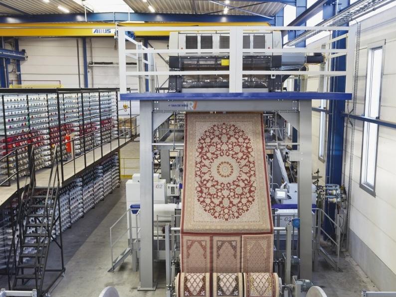carpet weaving machine, rug weaving machine, weaving machine فرش سجاده محراب نقش کاشان
