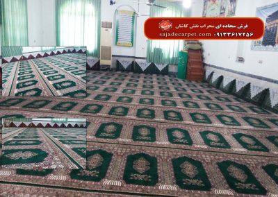 فرش سجاده ای-سبز-طرح معراج-مسجد صاحب الزمان - آمل