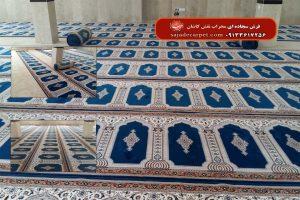 فرش مسجدی-طرح یاسین-آبی کاربنی