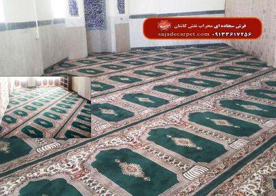 فرش سجاده ای-سبز-طرح یاسین-امامزاده عبدالله-فسا