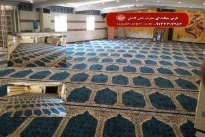 سجاده فرش نماز - شرکت فولاد اکسین-خوزستان-نیایش-آبی