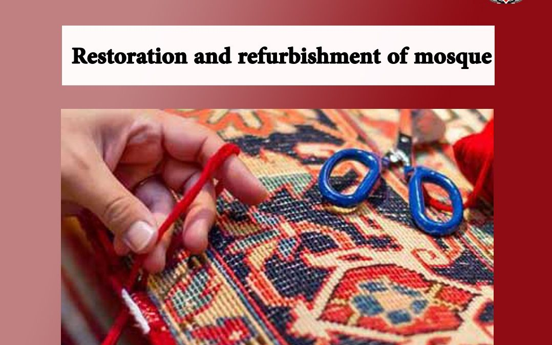 Restoration and refurbishment of mosque carpets