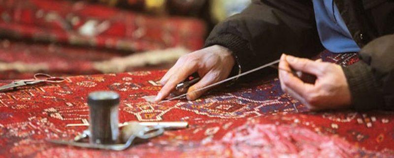 carpet, refurbishment, Restoration, Restoration and refurbishment carpet فرش سجاده محراب نقش کاشان