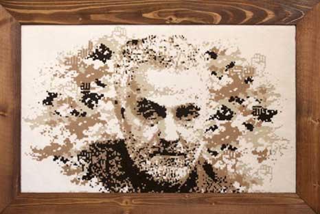 تابلو فرش, تابلو فرش چهره, تابلو فرش سفارشی, تابلوفرش فرش سجاده محراب نقش کاشان