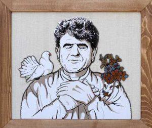تابلو فرش چهره در اصفهان - سفارش تابلو فرش سفارشی استاد شجریان