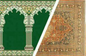 تعویض فرش های کهنه مسجد