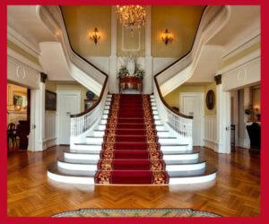 فرش تشریفات قرمز راه پله