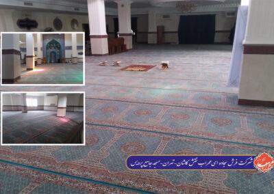 مسجد جامع پردیس تهران طرح سجاده ای