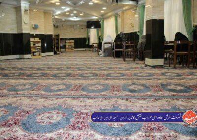فرش مسجد علی ابن ابی طالب تهران طرح فرشته